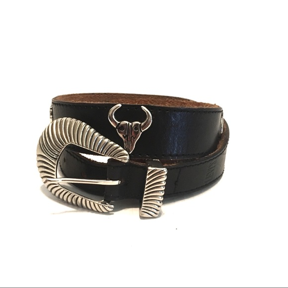 Levi's Accessories - Levi's | Black Genuine Cow Leather Southwest Belt